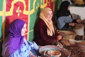 Berber women in Argan cooperative