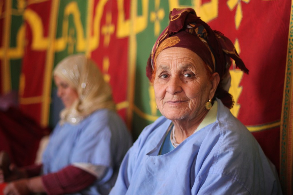 Khadija - a Berber women at the Argan Cooperative