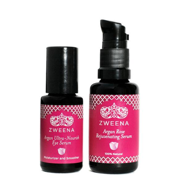 Zweena-Argan-Rose-Face-Serum-and-Argan-Ultra-Nourish-Eye-Serum-Set (1)